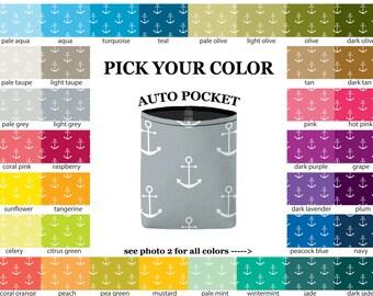 Auto Pocket - Anchors - PICK YOUR COLOR - Car Accessory Automobile Caddy