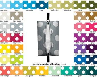 Auto Sneeze - Jumbo Polka Dots - PICK YOUR COLOR - Visor Tissue Case/Cozy - Car Accessory Automobile polkadots