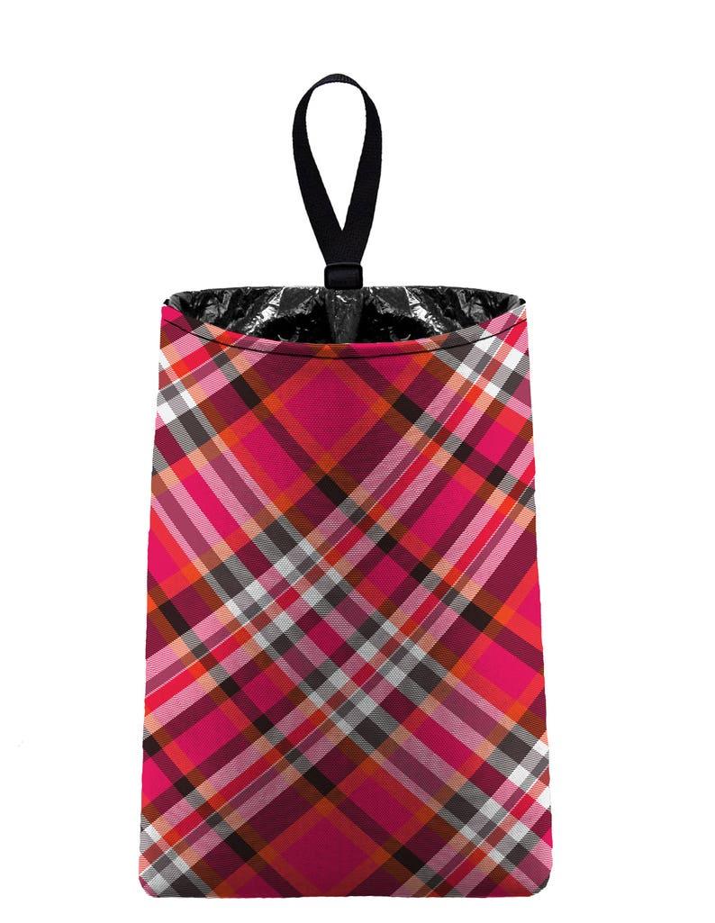Car Trash Bag // Auto Trash Bag // Car Accessories // Car Litter Bag Car  Garbage Bag - Plaid Pink Car Organizer