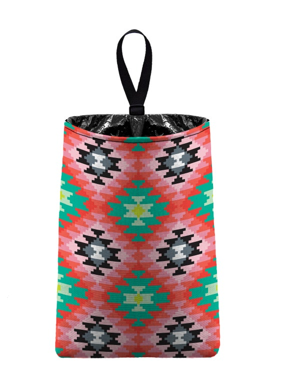 Car Trash Bag // Auto Trash Bag // Car Accessories // Car Litter Bag // Car Garbage Bag - Aztec Southwestern Tribal Pattern Car Organizer