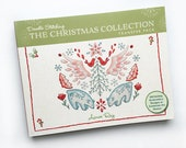 Christmas Collection Iron On Hand Embroidery Patterns Transfer Book by Aimee Ray, DIY Holiday, Doodle Stitching, modern needlework
