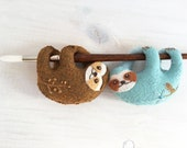 Felt Sloth Plush Sewing pattern, felt toy, Digital Download