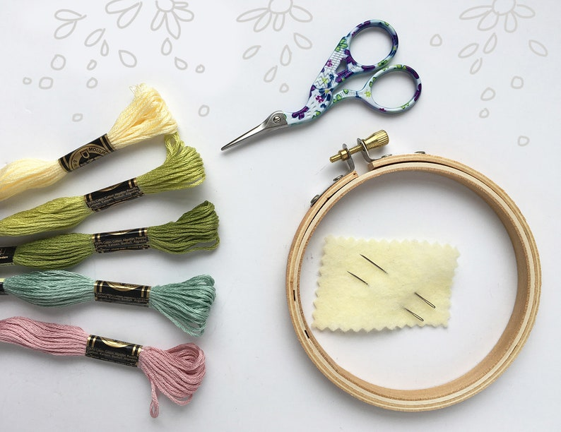 Start-Up Supply Kit Hand Embroidery made easy floss image 0