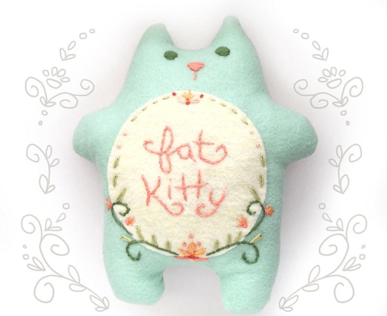 Fatkitty Plush Sewing Pattern PDF Download sew your own felt image 0