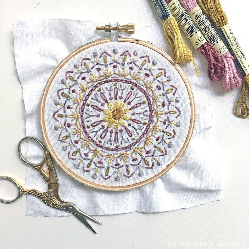 Learn to Embroider with this Mini Mandala Beginner Hand image 0