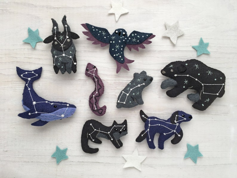 All 8 Constellation Animals Sewing Pattern PDF download image 0
