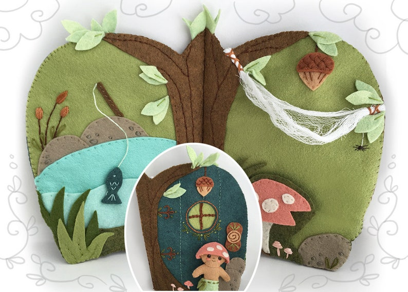 Fairy Door Quiet Book PDF Download Plush Sewing Pattern for image 0