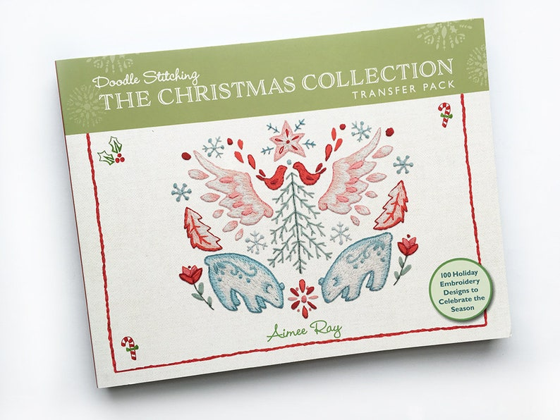 Christmas Collection Iron On Hand Embroidery Patterns Transfer image 0