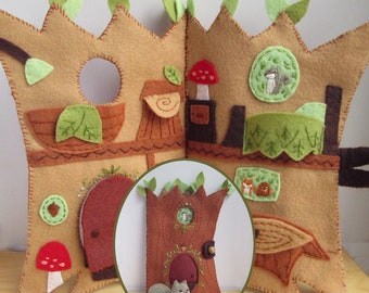 Treehouse Quiet Book PDF Download Plush Sewing Pattern, perfect for a sweet woodland nursery
