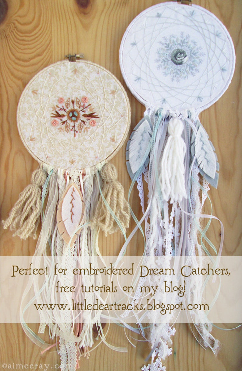 Four Mini Nature Motifs Hand Embroidery Pattern PDF Download Butterfly Fox Woodland Embroidery Hoop Art