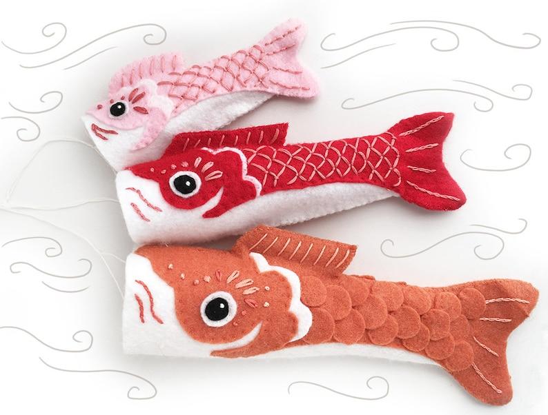 Koinobori Fish Flag plush sewing pattern Party Decorations image 0