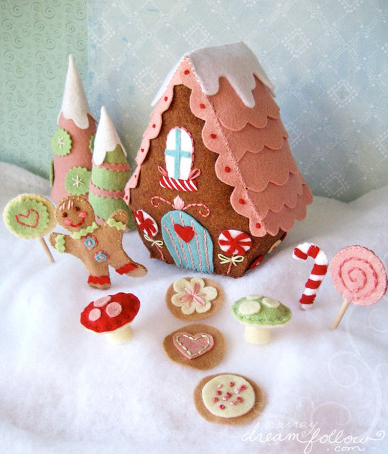 Candy Land Lane Plush Sewing Pattern PDF Download Fairy image 0