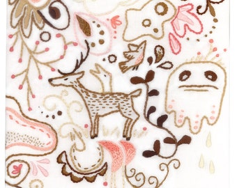 Hand Embroidery Pattern, Forest, Woodland Animals, Woodland Nursery, PDF Download, Embroidery Art, Embroidery Designs