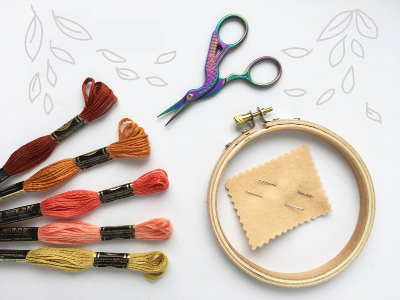 Learn Hand Embroidery with this easy Start-Up Supply Kit image 0