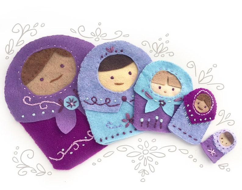 Plush Sewing Pattern for Matryoshka Nesting Dolls finger and image 0