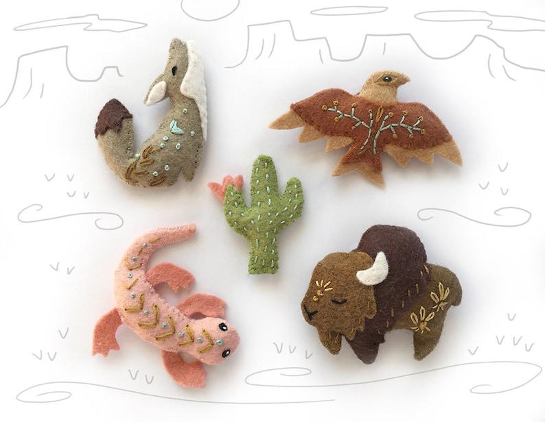 Felt Animals Spirit Creatures PDF download SVG file Plush image 0