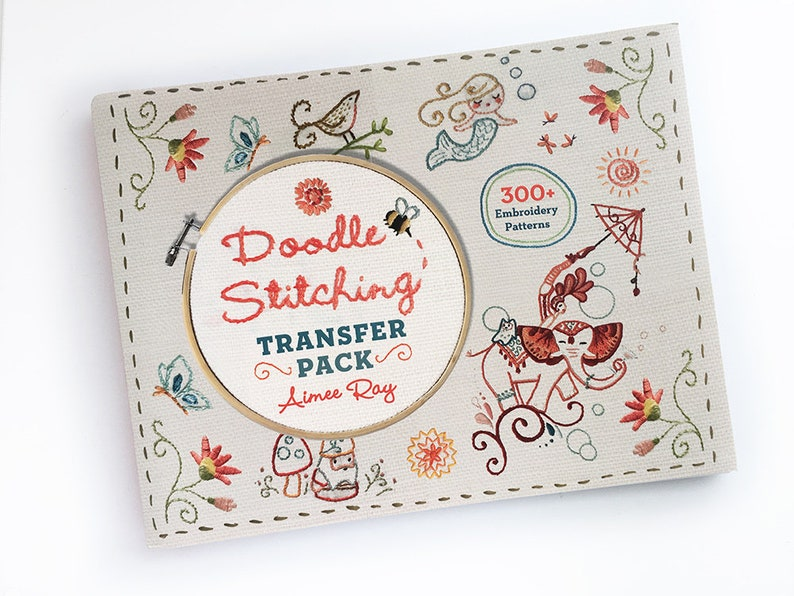 Doodle Stitching Transfer Pack book by Aimee Ray Iron On image 0