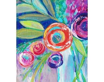 flower wall art, flower art print, wall art, modern blooms, modern flowers, contemporary florals, flower art, navy wall art, red flowers