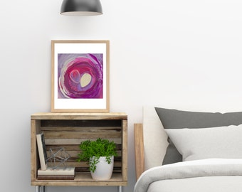 abstract nest, abstract art, contemporary art, home decor, wall art, painting, nest art, egg art, mixed media, egg nest, modern art
