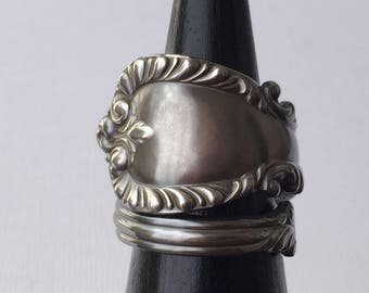 Large Antique Spoon Ring | Sterling Silver | c. 1894