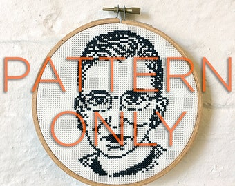 Justice Ruth Bader Ginsburg Cross-Stitch PATTERN ONLY