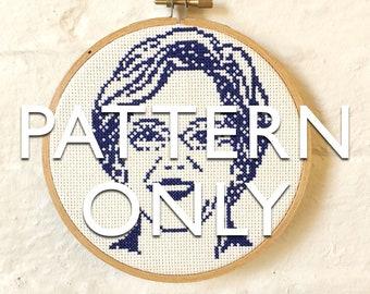 Senator Elizabeth Warren Cross-Stitch PATTERN ONLY