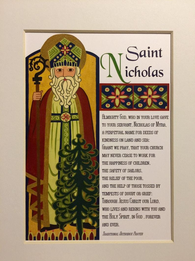 image relating to St Nicholas Prayer Printable known as Saint Nicholas Print