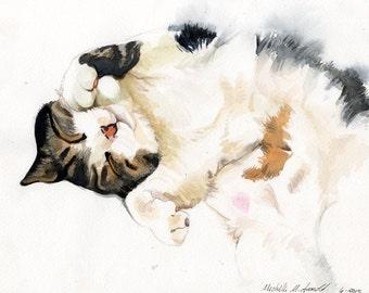 8x10 inch Custom Watercolor Pet Portrait