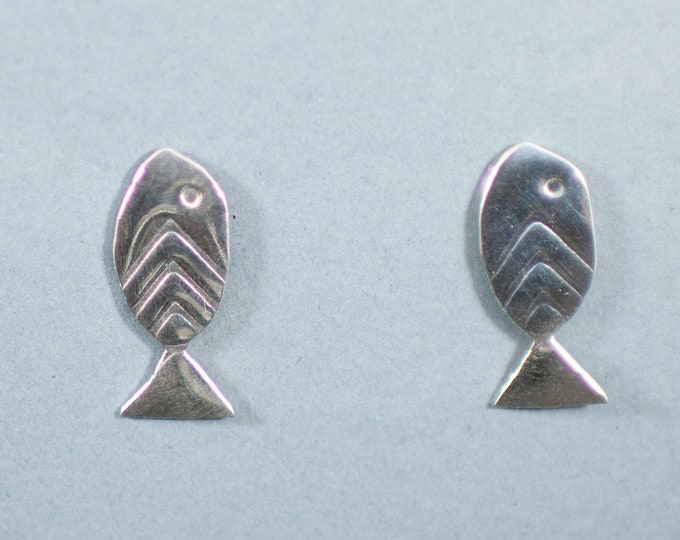 Featured listing image: Fish Earrings, Sterling Silver, Nickel Free Post, Small, Delicate
