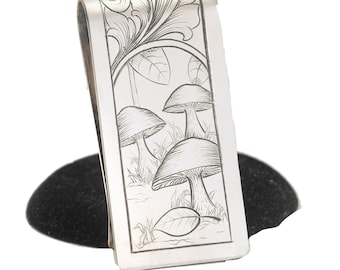 Sterling Silver Money Clip For Men, Card Holder, Cool Money Clip For Dad, Unique Gifts For Men, Anniversary Gift For Husband, For Groomsmen