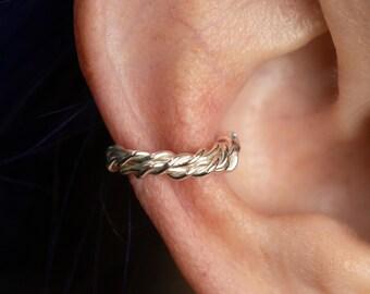 Sterling  Silver Ear Cuff, No Pierce Earrings,Cartilage Earring, Non Pierced Ear Cuff, Every Day Earring, Ear Wrap, Teen Girl Gifts