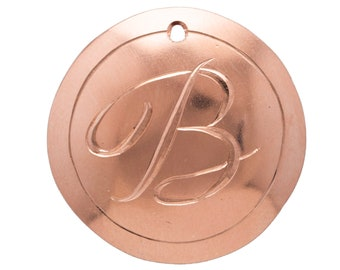 Initial Necklace For Mom Personalized Gifts  Copper Jewelry Pendants