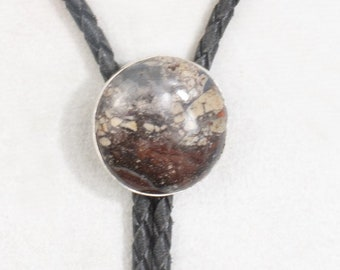 Handmade Sterling  Bolo with an Agate Cabochon