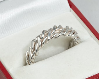 Sterling Silver Cable Ring