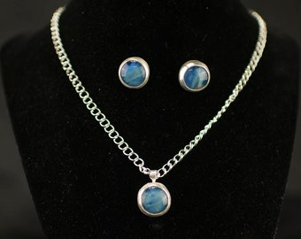 Stunning Blue Jewelry Set