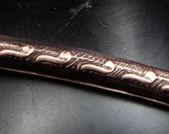Stamped Copper Bangle Bracelet Skinny Bracelet Boho jewelry For Women Valentines Gift For Girlfriend Gift For Mom Dainty Bracelet