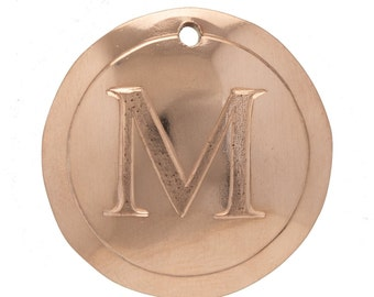 Initial Necklace Mother's Day Gift For Mom From Daughter Personalized Gifts Copper Jewelry Pendants