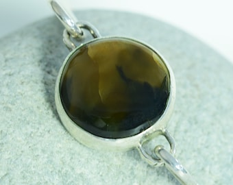 """Dark and Stormy"" Sterling Silver Everyday Bangle"
