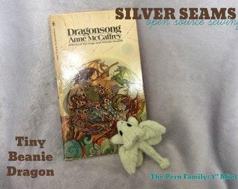 Tiny Mint-Green Dragon Hatchling – Beanie Style
