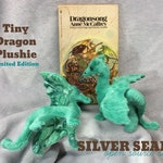 Tiny Dragon Plushie - Seafoam Swirl