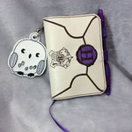 Hogwarts Letter Mini Composition Book Cover (with Hedwig charm) - Refillable!