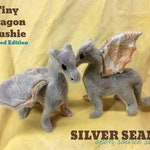 Tiny Dragon Plushie - Silver Apricot