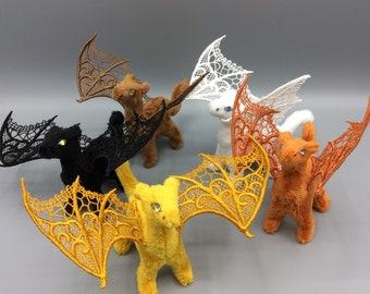 "Tiny Lace Wing Dragon - 4"" Plushie"