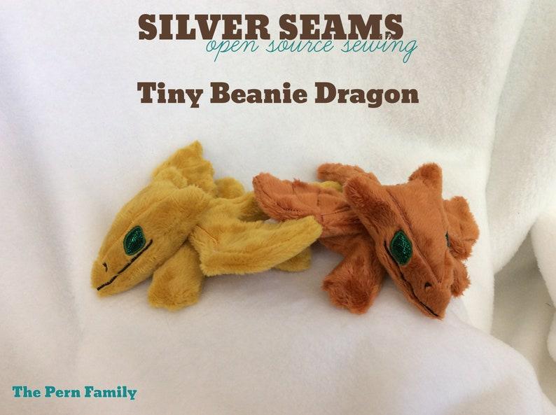 Beanie Style Tiny Gold Dragon