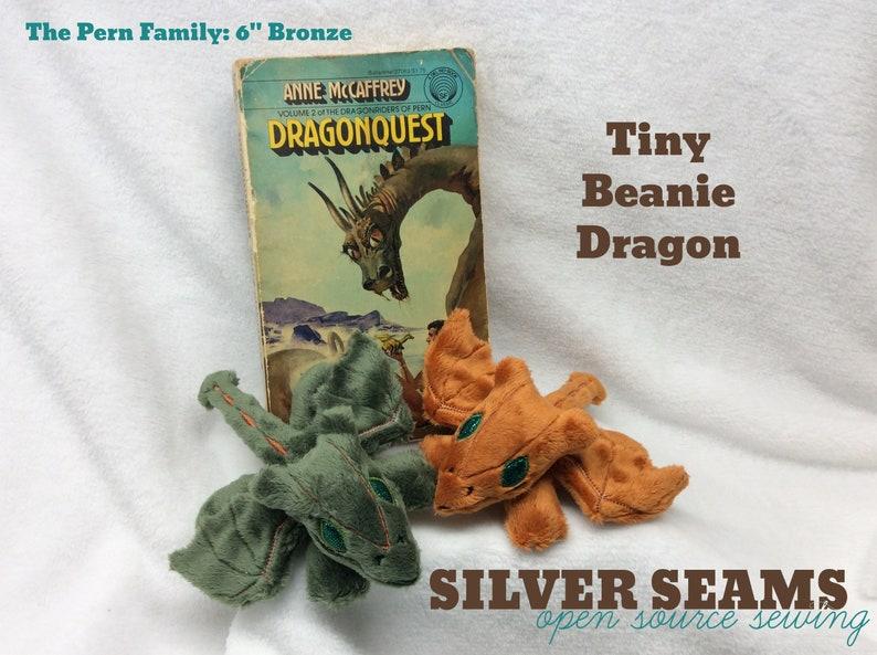Tiny Bronze Dragon  Beanie Style image 0