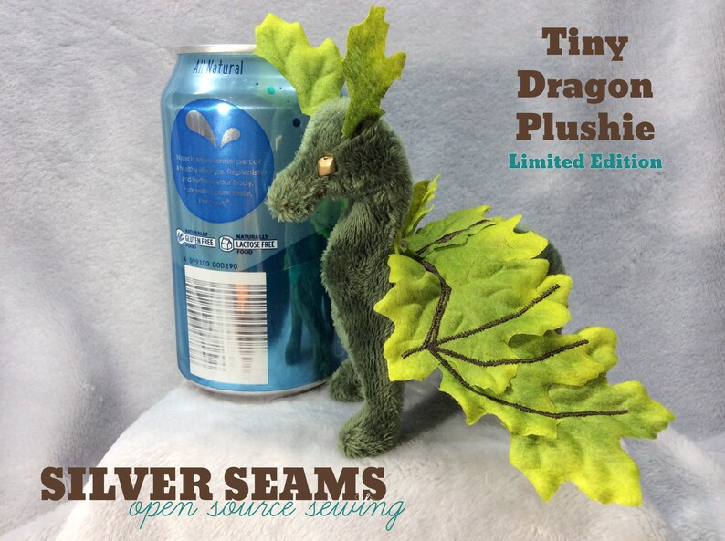 Tiny Dragon Plushie  Green Leafwing Late-Summer Maple image 0