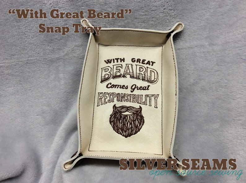 With Great Beard Comes Great Responsibility  Snap Tray image 0