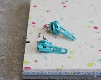 Summer Jewelry, Zipper Earring Studs, Everyday Jewelry, Novelty Earrings, Under 20, Fun Gift Idea For Seamstress, Sewing Lover, Dressmaker,