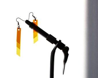SALE 25% OFF! Festival Fashion, Boho Jewelry, Tassel, Bohemian, Ombre, Ombré, Bar Earrings, Color Block, Long Earring, Thin Earring, Minimal