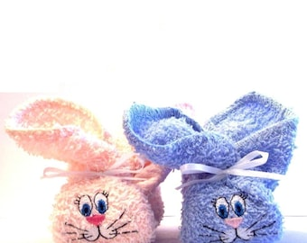 Embroidered Boo Boo Bunnys - Great Shower Gift